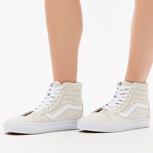 Vans Women's White Sk8-Hi Reissue Sneakers NWT